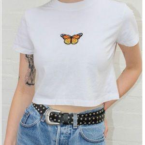 Brandy Melville butterfly t shirt